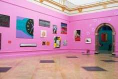 Installation view of Royal Academy of Arts Summer Exhibition 2015.artist:Michael Craig-Martin© David Parry