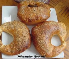 This is from the Phoenician Gourmet blog. It like the bread I had in Beirut which was stuffed with kanafeh