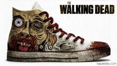 Walking dead converse..WANT IT ! I'm gonna do it by myself :3