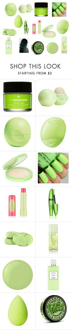 """Green Makeup"" by nmekonnen28 on Polyvore featuring beauty, Ole Henriksen, Eos, Ahava, COVERGIRL, Elizabeth Arden, Crabtree & Evelyn, Hermès and beautyblender"
