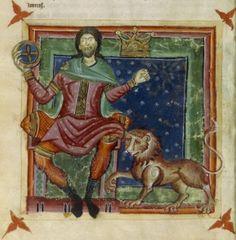 """Sole in domicilio nel Segno del Leone. Miniatura dal """"Liber Astrologiae"""" di Georgius Zothorus Zaparus Fendulus, XIII sec."""