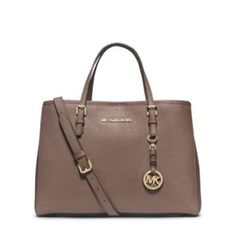"""1 DaY SALEMichael Kors jet set medium tote -100% Cow Leather DARK DUNE with gold hardware. -Top Handle: 5""""  -Adjustable Strap: 20-22""""  -Interior: One Zip Divider Pocket, One Zip Pocket, Three Open Pockets, One Cell Phone Pocket, One Key Fob  -12 X 9 X 5  -Dog Clip  -100% Polyester Lining  ❌NO TRADES❌ Michael Kors Bags Totes"""