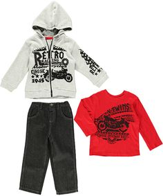 "Little Rebels ""Retro Racing"" 3-Piece Outfit (Sizes 2T – 4T) - CookiesKids.com. Cool #boysfashion #cookieskids"