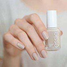 The seductive power of soft sandy beige nail polish is not to be underestimated. trend-setting, neutral pastel, essie 'sand tropez' is the most alluring manicure on the riviera – or anywhere else.