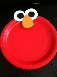 Elmo plates. Simple and magical!