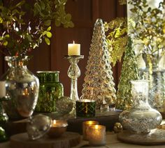Christmas decorating with mercury glass
