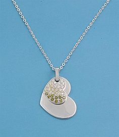 Buy Silver Necklace W/ CZ - Heart Design @$17.07 #SilverNecklace #womennecklace