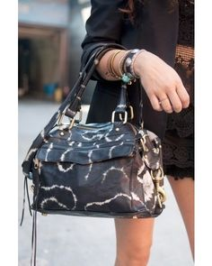 Love the tie-dyed-esque print of the Rebecca Minkoff bag. Great everyday. New  York Fashion Week Street ... edfe57cd21694
