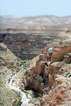 Mar Saba ... a Greek Orthodox monastery overlooking the Kidron Valley in the West Bank east of Bethlehem. Today it houses around 20 monks and is is considered to be one of the oldest inhabited monasteries in the world.