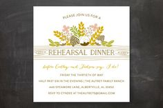 """""""Rustic Charmer"""" - Rustic Rehearsal Dinner Invitations in Ivory by Mikel Clair Hardin."""