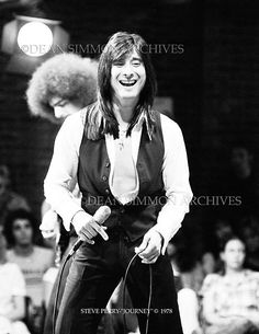 Photo of Journey- Steve Perry by Dean Simmon. Dean Simmon Archives: Rock N Roll Photography Steven Ray, Neal Schon, Journey Steve Perry, Wheel In The Sky, Bryan Adams, Love Songs Lyrics, Love Band, Sing To Me, Jon Bon Jovi