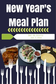 New Year's Meal Plan - Real Food Dinner Meal Planning - Recipes