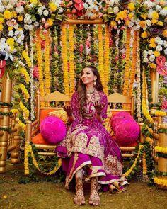 (C) Jasleenpowar | (C) Akritibyritika&shakun | (C) Sunnydhimanphotography | Wedding photography | Mehendi #bridalportrait #weddingdecor #weddingphotography #mehendi #purple #mehendidecor #mehendioutfit #2021weddings Desi Wedding Decor, Floral Wedding Decorations, Ceremony Decorations, Umbrella Decorations, Floral Centerpieces, Mehendi Decor Ideas, Mehndi Decor, Mehndi Ceremony, Haldi Ceremony