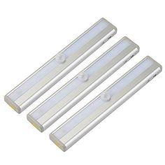 OxyLED T-02S LED Schrankbeleuchtung Stick-on 20-LED Leuchte mit Bewegungsmelder Magnetstreifen, Portabel Lichtleiste Nachtlicht für Kleiderschrank, Wandschrank, Weiß Lichtfarbe