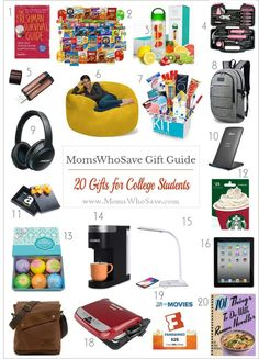 Gifts Your Favorite College Student Will Love! #gifts #students #dorm #college #giftguide