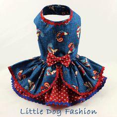 Vestido de perro perro arnés vestido vestido por LittleDogFashion