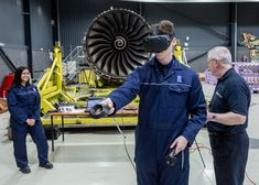 Rolls-Royce and Qatar Airways partnered to develop VR training for engineers to teach them the ins and outs of the Trent XWB engine for the fleet. Image Macro, Engineers, Rolls Royce, Vr, Virtual Reality, Training, Work Outs, Workouts, Education