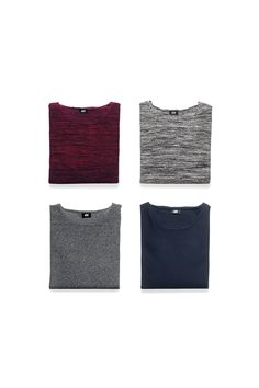 The round-neck sweater is the perfect choice for a relaxed and modern look. Wear it by itself or over a shirt.│ H&M Men