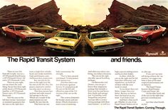 1970 Plymouth - The Rapid Transit System - Original Ad
