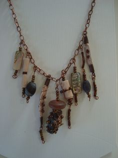 Chatelaine Necklace Boho style by angierichardson on Etsy