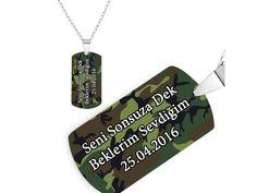 Askere hediye kamuflaj desenli asker künyesi.. Ona alabileceğiniz en iyi hediyelerden birisidir.. Diğer asker hediyeleri için www.heryerehediye.com a göz atabilirsiniz.