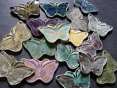Porcelain Butterflies by RoundRabbit, via Flickr
