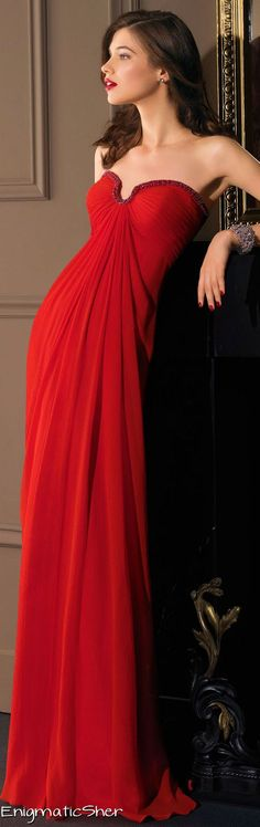 gorgeous red cocktail gown.