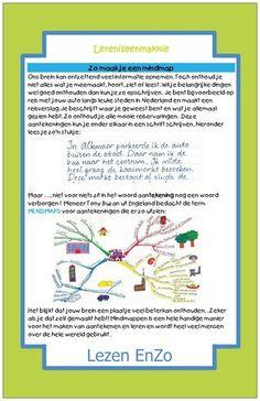 Hulpkaart #mindmap maken > Leren is een makkie Learning Tips, 21st Century Skills, Mad Science, Classroom Management, Spelling, Coaching, Language, Mindfulness, Teacher