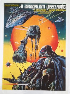 Csillagok háborúja: A Birodalom visszavág—Star Wars: The Empire Strikes Back (A Hungarian Star Wars poster) Best Movie Posters, Movie Poster Art, Film Posters, Art Posters, Polish Posters, Poster Poster, Vintage Posters, Star Wars Poster, Star Wars Art