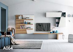 Mobili contenitori Archivi - Tomasella unit design With Book Shelf Wall Unit Designs, Tv Unit Design, Shelf Design, Bed Design, Tv Wanddekor, Tv Wall Decor, Tv Furniture, Book Racks, Tv In Bedroom