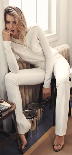Abbey Lee Kershaw wears Ralph Lauren Spring 2015 Collection in Vogue Korea.