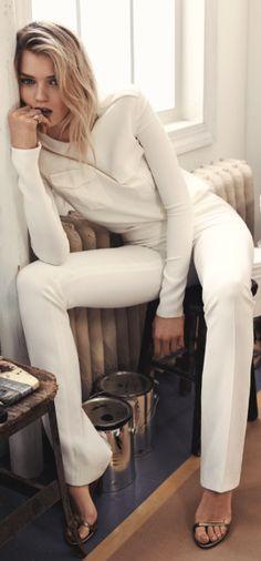 Abbey Lee Kershaw wears Ralph Lauren Spring 2015 Collection in Vogue Korea.