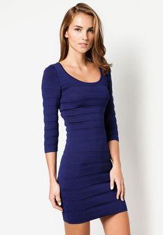 MANGO Stripe Textured Dress 間條暗紋連身裙