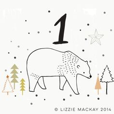 The Xmas countdown has begun with the help from Lizzie Mackay and her gorgeous illustrations.