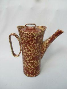 Bennington Potters Brown Splatterware MCM Coffeepot by David Gil #1630 | eBay