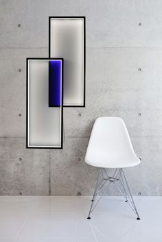LED indirect light wall lamp DUO LT by CINIER Radiateurs Contemporains