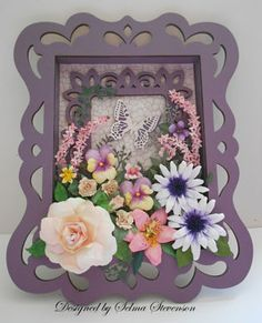 A Framed Garden of Flowers - all the different flowers.
