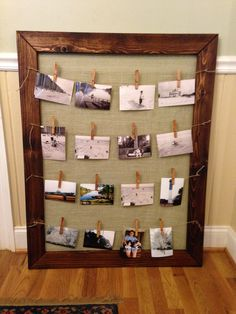 Big frame with burlap and twine 65.00