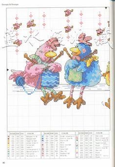 Borduurpatroon Funny Cartoon *Cross Stitch with Funny Cartoon ~Breiende Kippen Cross Stitch Needles, Cross Stitch Bird, Cross Stitch Animals, Cross Stitch Charts, Cross Stitch Designs, Cross Stitching, Cross Stitch Embroidery, Embroidery Patterns, Cross Stitch Patterns