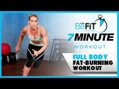 7 Minute Workout: Full Body Fat-Burning Cardio is a high-octane total body-toning cardio workout that is designed to burn massive calories build strength i. 7 Minutes Workout, Ten Minute Workout, 7 Workout, Fat Burning Cardio Workout, Workout Videos, Squat, Total Body Toning, Youtube Workout, Nutrition