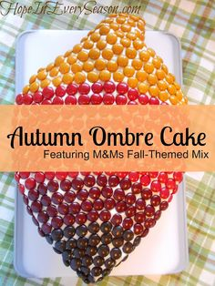 Hope In Every Season: Autumn Ombre M&M's Cake & Vintage Hot Apple Cider #HarvestFun #shop #cbias