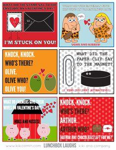 Valentine Lunchbox Laughs {free printable}