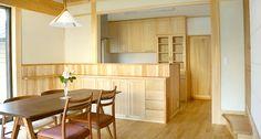 磨き壁のある家 « 合板を使わない、本物の自然素材の家 森びとの会 Divider, Kitchen, Room, Furniture, Home Decor, Bedroom, Cooking, Decoration Home, Room Decor