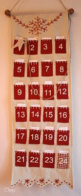 Really like this Advent Calendar. Would like it better in burlap.