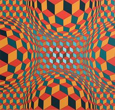 Victor Vasarely Cel Kah (1970)