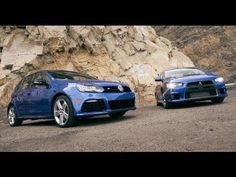 Volkswagen Golf R vs Mitsubishi Lancer Evolution MR - [Head 2 Head Episode 5]