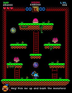 """(G) ary J Lucken on Twitter: """"One day I'll make and old school, black background, bubble bobble ripoff and it'll look a lot like this... https://t.co/0TGoBkijK3"""""""