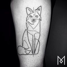Bold, Single-Line Black-And-White Tattoos That Are Simple But Striking - DesignTAXI.com