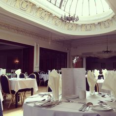 Dining at Victoria Hotel restaurant, TLH Leisure Resort. www.tlh.co.uk.........vintage dining room