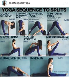 Yoga sequence to splits